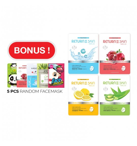 Return 2 Skin Facemask (Buy 10 Free 5)