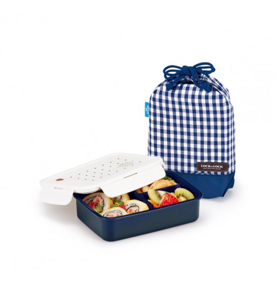 Lock & Lock 1 Layer Lunch Box With Bag (S)