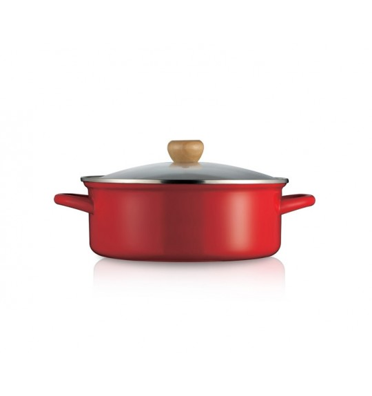 Lock&Lock Cherry Cookware Casserole With Glass Lid 24cm