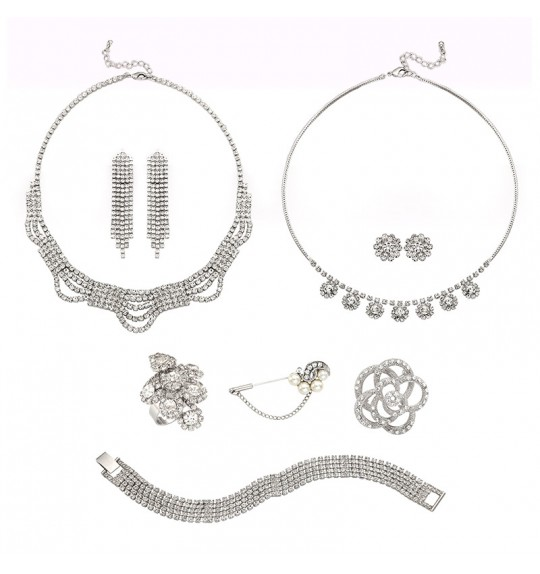 GAETANO Party Jewelry Set 8pcs