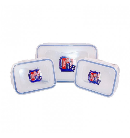 Lock & Lock Plastic Container 3P Set