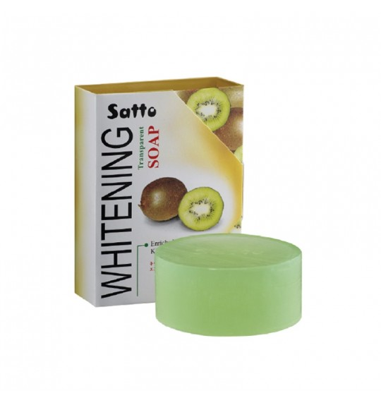 Satto Whitening Transparent Soap Enriched With Kiwi