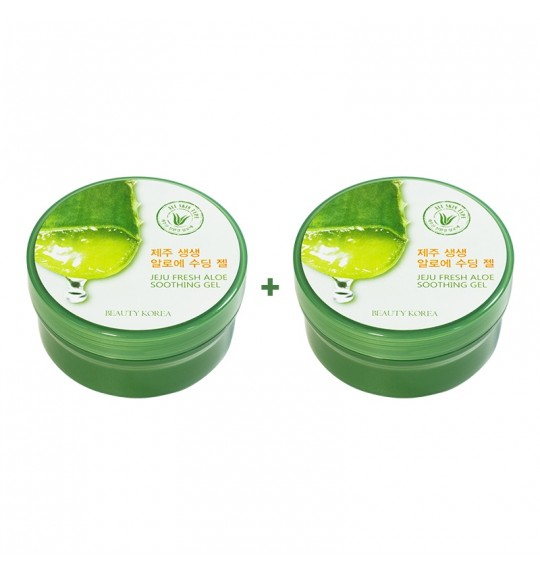 Jeju Fresh Aloe Soothing Gel 300mL (1+1)